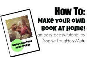 Make your own picture book! An easy peasy tutorial