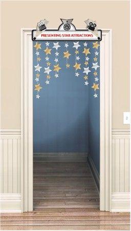 Stars hanging down from door classroom decoration