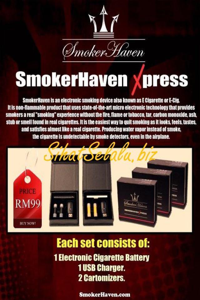 ROKOK ELEKTRONIK SMOKERHAVEN XPRESS - pakej yang lebih murah berbanding Compact.