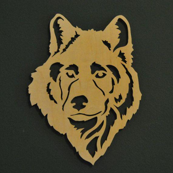 Wolf hout silhouet Figuurzagen hout kunst door FoxBrothersWood