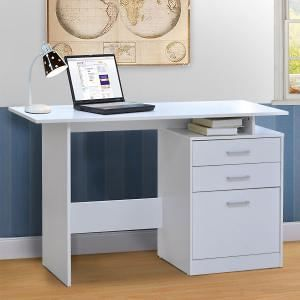 Bianca White Writing Desk L120 x D48 x H75.5 cm
