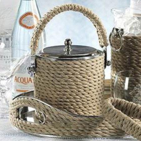 Seaside Ice Bucket & Tongs