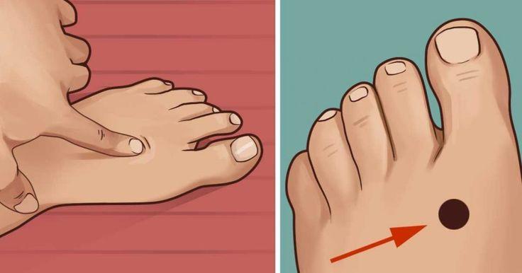 Als je voor het slapen gaan op DIT punt van je voet drukt gebeurt er dit met je lichaam.