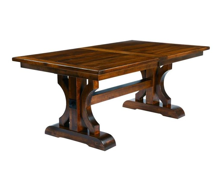 Barstow Trestle Table with Plank Top and Breadboard Ends  Bontrager Dining Collection  Rustic meets elegant in this Amish Dining Table. Our Barstow Trestle Table will be a conversation spot for all friends and family.