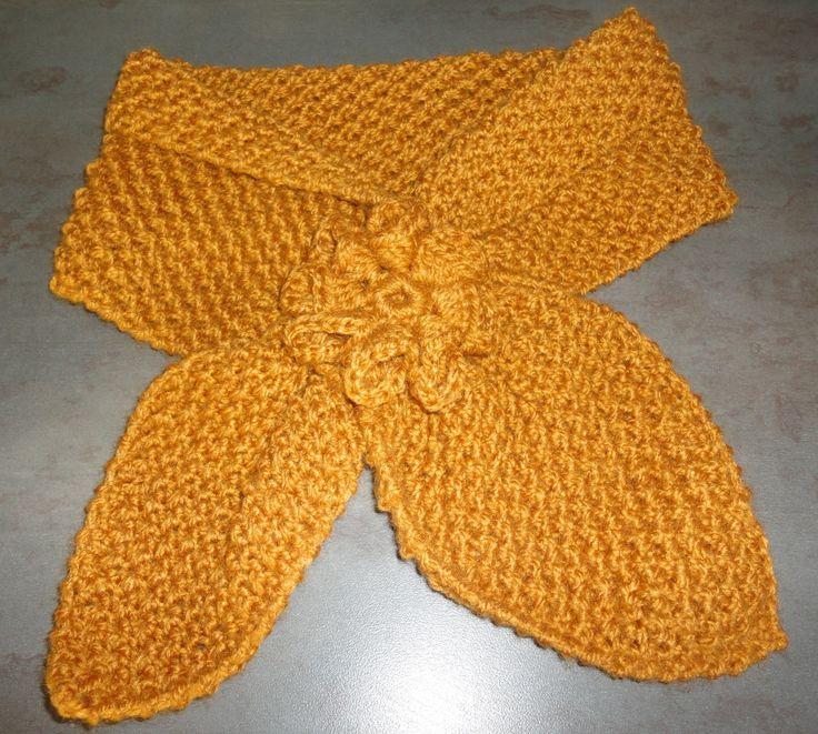 Bufanda tricot Modelo Gatito $3.500