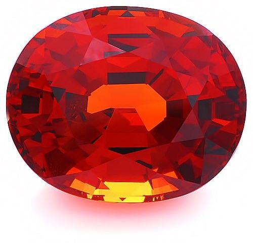 Dark yellowish orange Spessartite oval weighing 13.1 cts.: