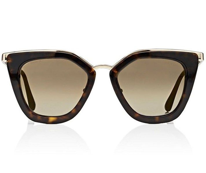Popular Sunglasses: Oversized Brown Prada Cinma Sunglasses
