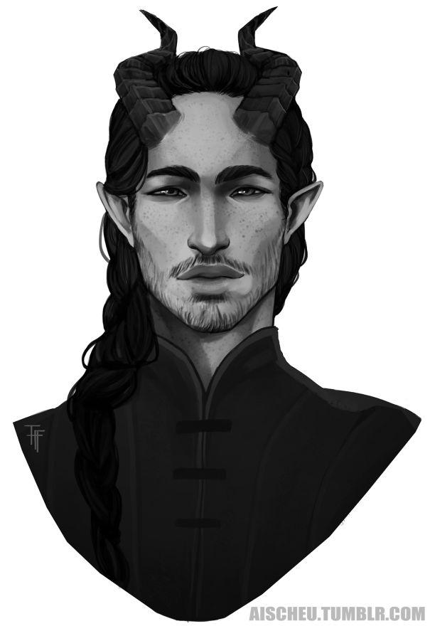 Seine Hörner waren unauffällig und verschwanden meist unter seinen Haaren