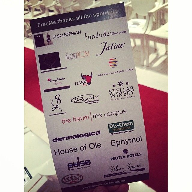 The fantastic partners and sponsors for the Free Me CatwalkCalling Event #Freeme #catwalkcalling
