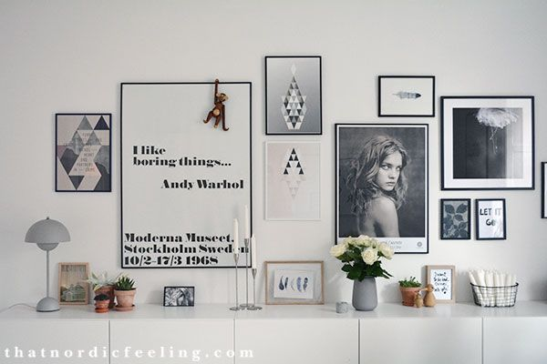 Photo wall via that nordic feeling