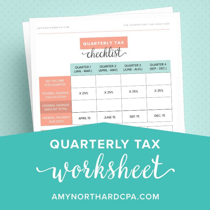 Quarterly income tax worksheet