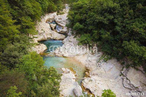 Gola del Burano a Foci di Cagli #Cagli #Foci #Burano #River #Fiume #Marche #Landscape #Forra #waterfall #Woods #Forest #Landscape #Nature #Summer #Fresh