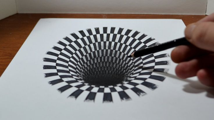 How to draw a Hole - Anamorphic Illusion | wordlessTech