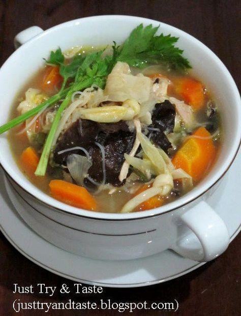 Resep sup kimlo yang kaya isi, gizi, segar dan sedap
