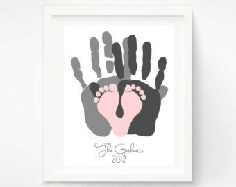 baby handprint valentine ideas - Google Search