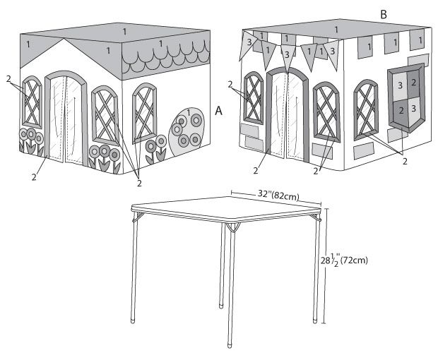 Make a play tent for your children...use the pattern and adapt it to the size of table you have.  FUN!