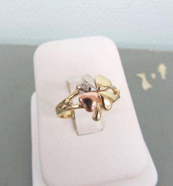 luxury rings sterling love lucky silver micro antique brand item women for cz clover