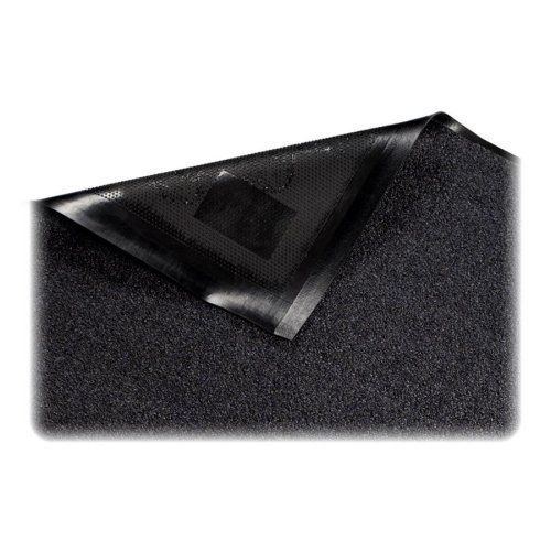 """Genuine Joe Indoor Mat, Nylon Carpet, Rubber Back, 3'X5', Black by Genuine Joe. $139.86. Genuine Joe Indoor Mat, Nylon Carpet, Rubber Back, 3'x5', BlackIndoor mat is ideal for indoor, high traffic areas. Mat is made with high-quality nylon carpet, reinforced border edges and extremely durable nitrile rubber backing. Maintenance-free mat traps solid and liquid waste and debris. Special backing ensures stability on smooth and textured surfaces. Unique """"picture fram..."""