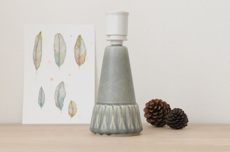 Stoneware Lamp Base form Søholm Pottery, Bornholm, Denmark by nORDICbYhEART on Etsy