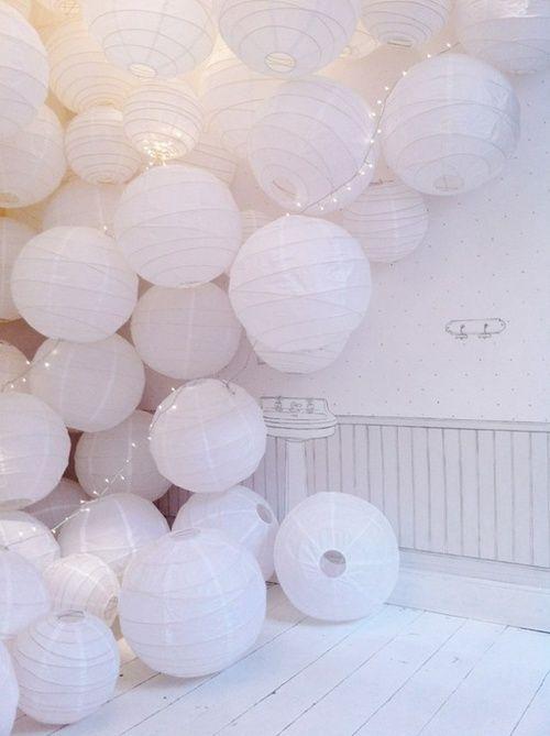 Une décoration blanche parfaite pour un mariage sur le thème de l'hiver !