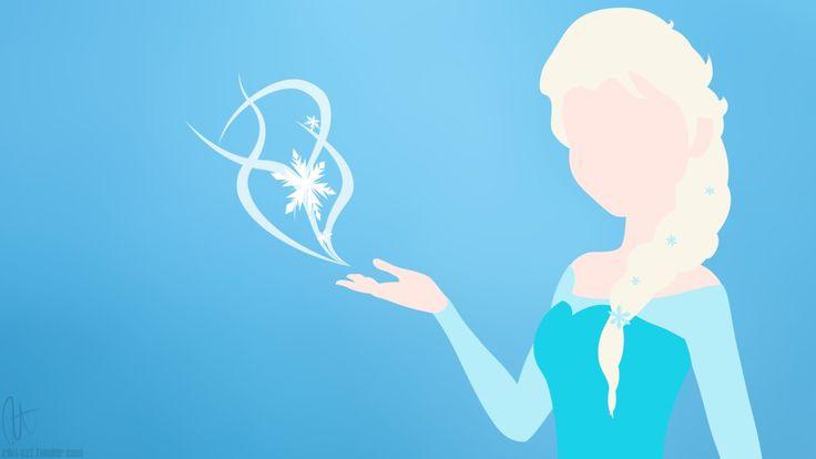Elsa Silhouette Frozen Party Pinterest Disney