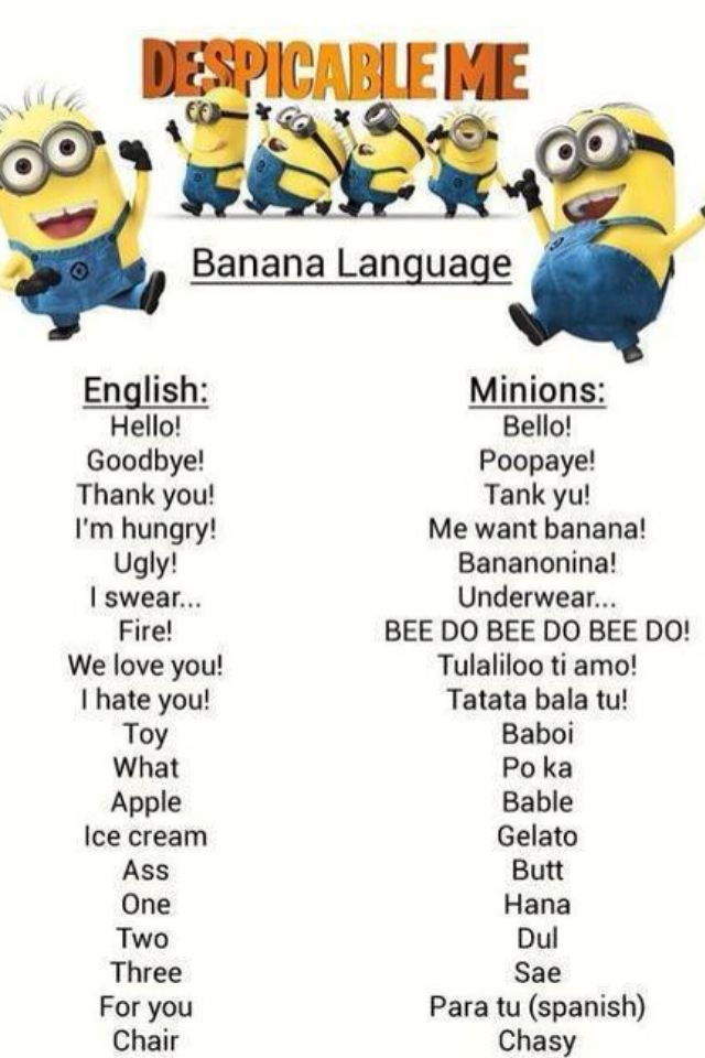Learn minion talking