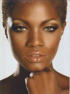 Fierce looking make up on black women brown skin deep skin medium skin