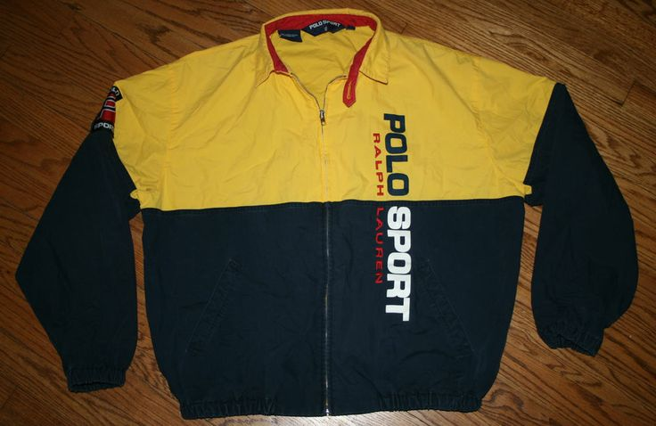 RARE Polo Sport Ralph Lauren Jacket Windbreaker-L-Sailing Red ...