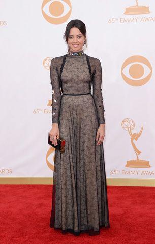 Aubrey Plaza at the 2013 Emmys