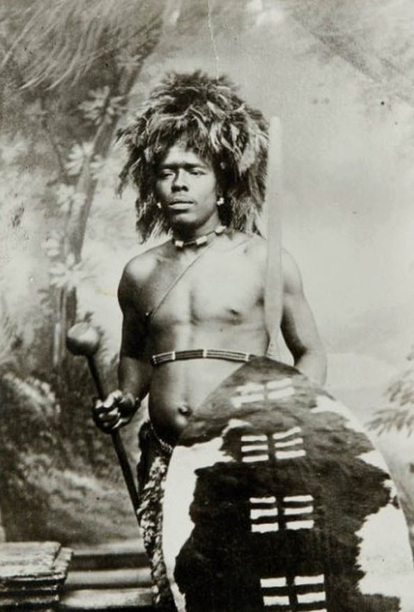 "Africa | ""Zulu Warrior"". South Africa ca. 1924/5 