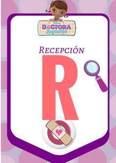 Letrero para fiesta de la Doctora Juguetes, Imprimible, #DoctoraJuguetes, #Fiesta #Niños