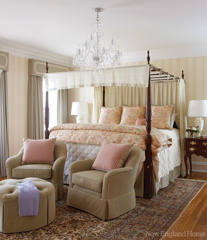 love the four poster bed with canopy dream home