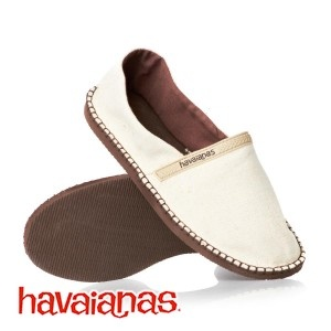 Go with classic casualness in a pair of Havaianas Origine eco shoes for men.