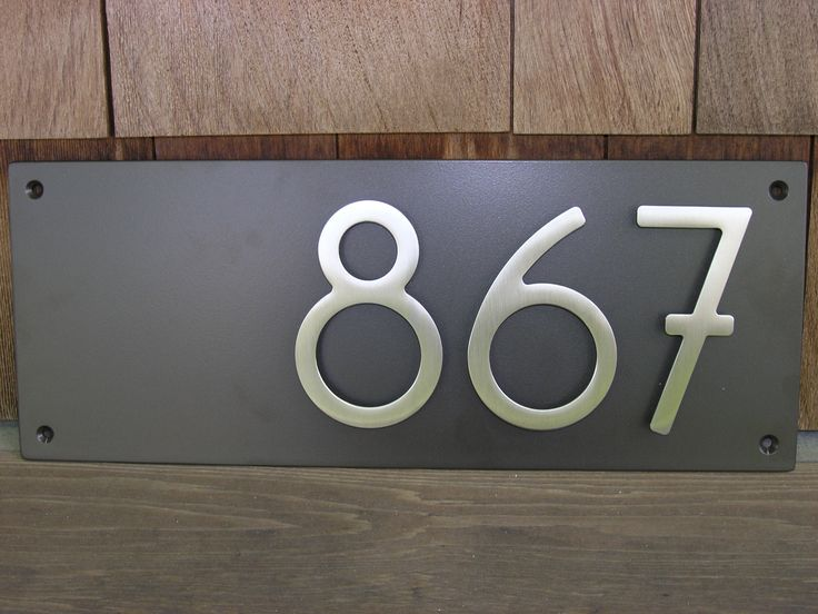 17 best images about house number on pinterest diy for Modern house number plaques