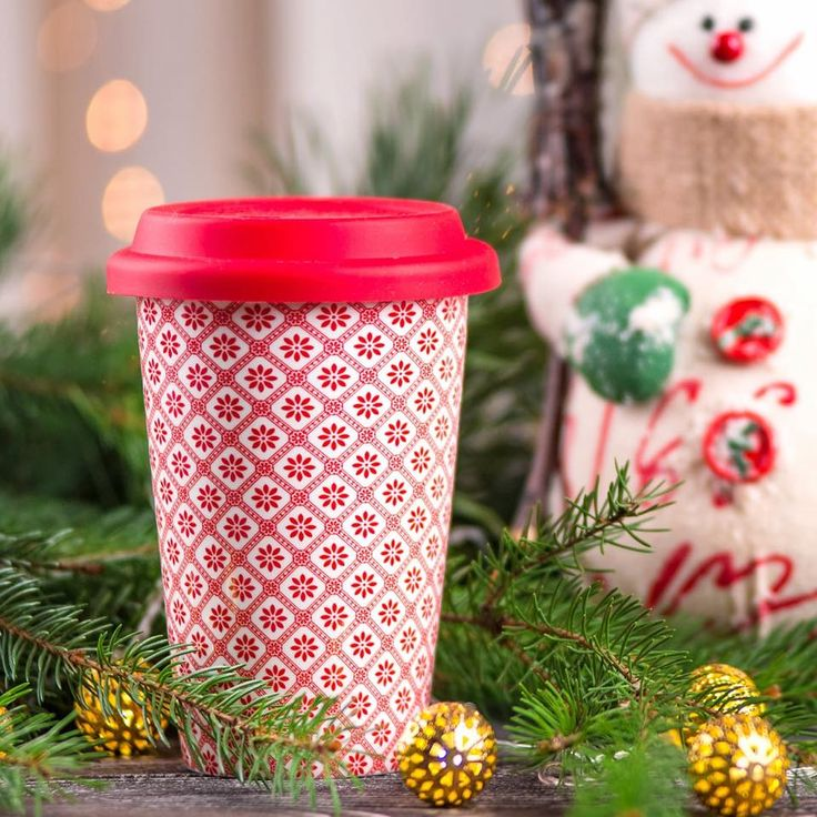 Travel mug Bianca red
