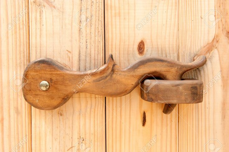 Wood Door Latch Stock Photo, Picture And Royalty Free Image. Image 8176746.