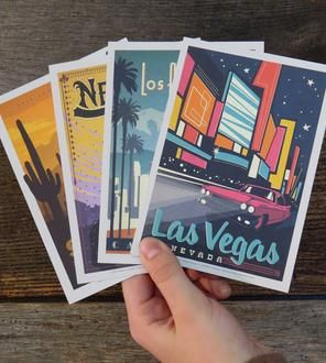 Explore America Vintage-Style Postcard Set