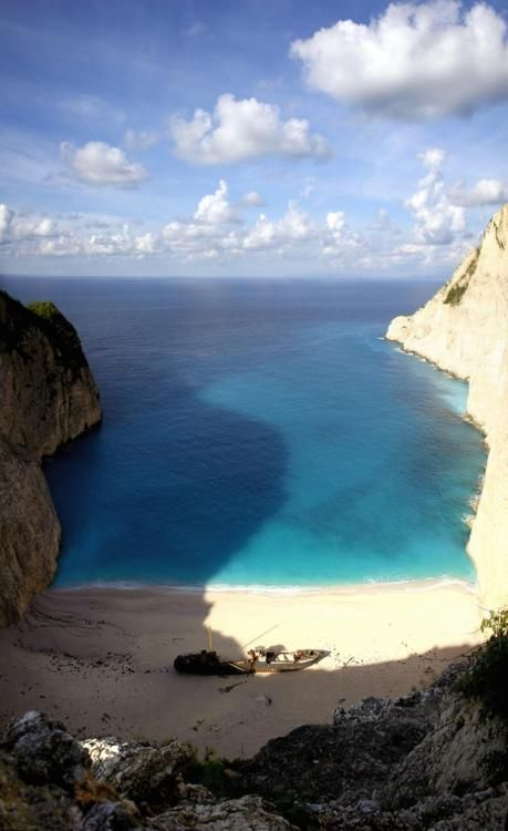 Navagio beach, Zakynthos, Greece. travel world visit see do fly Greece blue