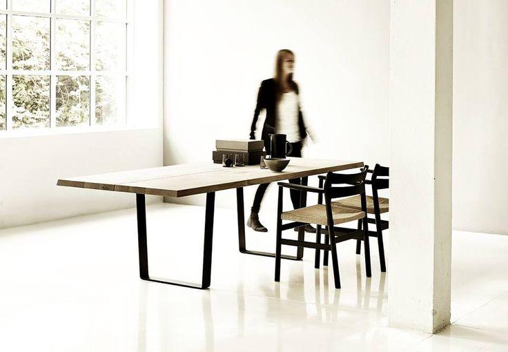 LowLight Table by dk3. #dk3 #LowLight #Table #Oak #Steel #Jacob #Plejdrup #Ole #Kristoffersen #Danish #Design #Furniture www.dk3.dk