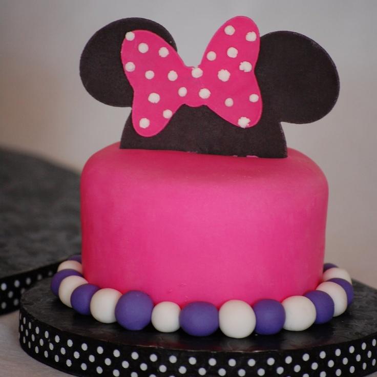 Purple Minnie Mouse Birthday Cake