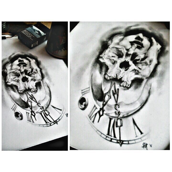 #sketch #sketchoftheday #skull #timely #clock #realistic #draw #drawing #drawings #art #artwork