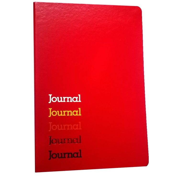Ambassador bound JournalBook™ with built-in elastic closure and ribbon marker. Includes 80 sheets of lined paper.
