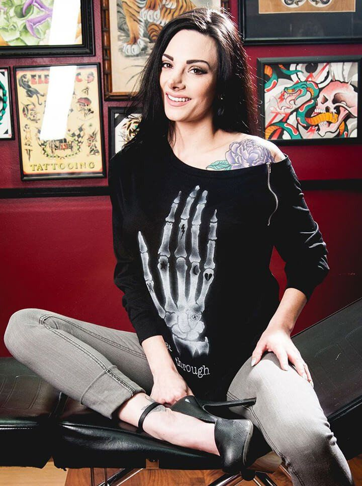 """Women's """"I See Through You"""" Billie Top by Too Fast Black 