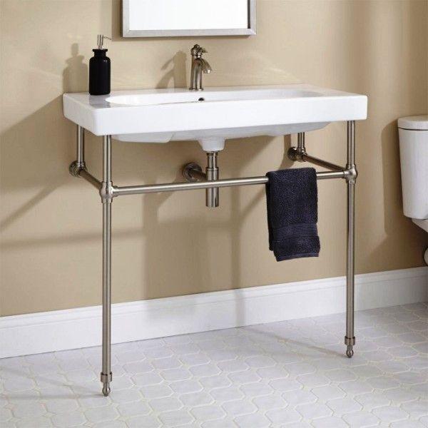Stand Alone Sinks For Bathroom Console Sink Powder Room Sink Sink