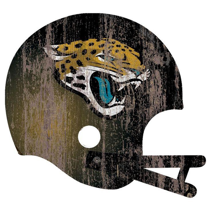 NFL Jacksonville Jaguars Distressed Helmet Cutout Sign