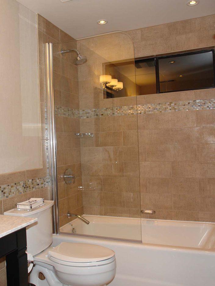 Bathtub shower door, model 7008SPR SemiFrameless70