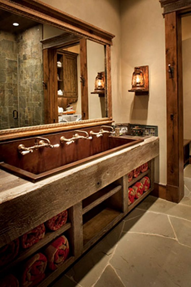 105 Best Images About Cabin Baths On Pinterest Log Cabin Bathrooms Rustic Bathrooms And Hunters