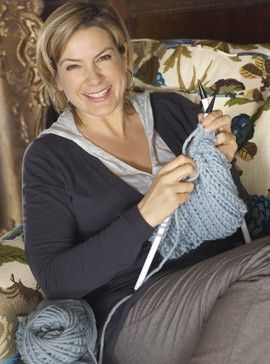 Penny Smith, English television presenter and newsreader, goes on a knitting course