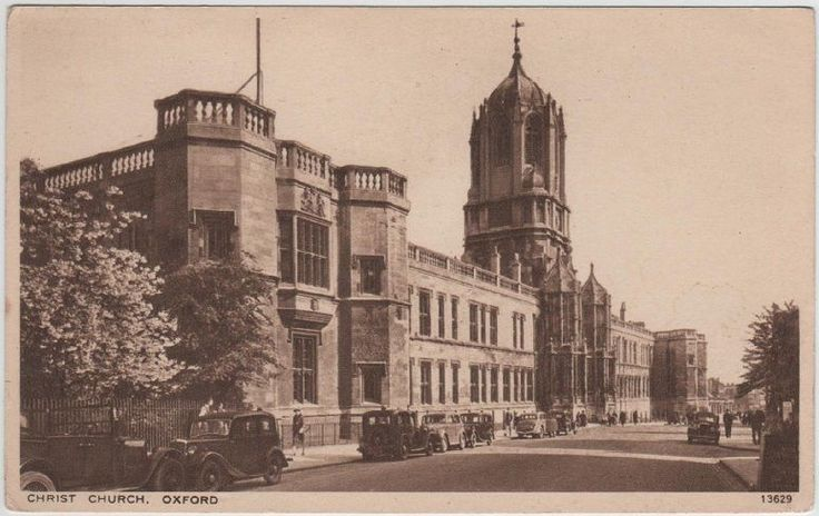 Vintage printed postcard of Christ Church, Oxford, published by Salmon
