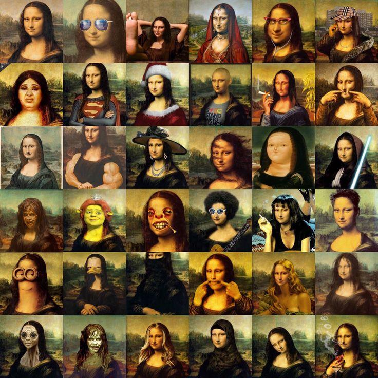 Mona Lisa... Tarihin en ünlü kadın figürü...  Ama aynı zamanda en çok dalga geçilen karakteri.  Mini bir derleme yaptım sizin için😀